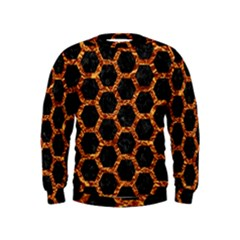 Hexagon2 Black Marble & Copper Foilmarble & Copper Foil Kids  Sweatshirt