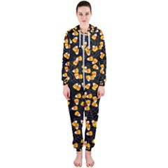 Candy Corn Hooded Jumpsuit (ladies)