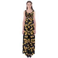 Candy Corn Empire Waist Maxi Dress