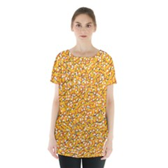 Candy Corn Skirt Hem Sports Top
