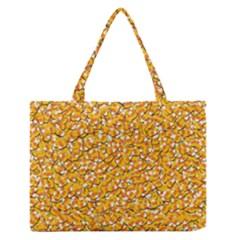 Candy Corn Zipper Medium Tote Bag