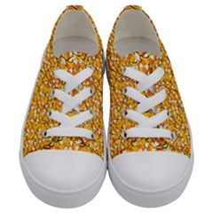 Candy Corn Kids  Low Top Canvas Sneakers