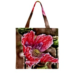 Dreamy Floral 5 Zipper Grocery Tote Bag