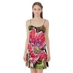 Dreamy Floral 5 Satin Night Slip
