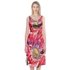 Dreamy Floral 5 Midi Sleeveless Dress
