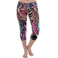 Dreamy Floral 7 Capri Yoga Leggings