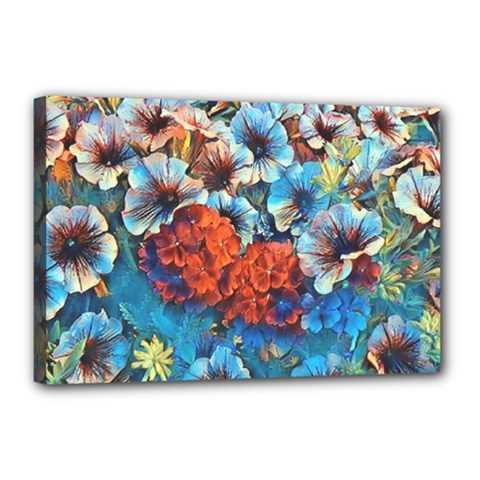 Dreamy Floral 3 Canvas 18  X 12