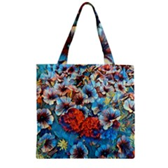 Dreamy Floral 3 Zipper Grocery Tote Bag