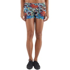Dreamy Floral 3 Yoga Shorts