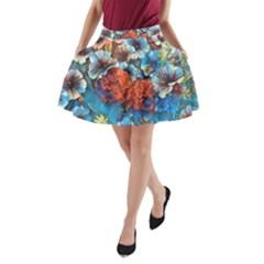 Dreamy Floral 3 A Line Pocket Skirt