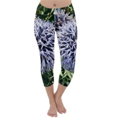 Dreamy Floral 6 Capri Winter Leggings