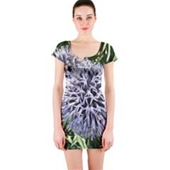 Dreamy Floral 6 Short Sleeve Bodycon Dress