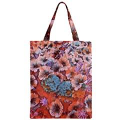 Dreamy Floral 4 Zipper Classic Tote Bag