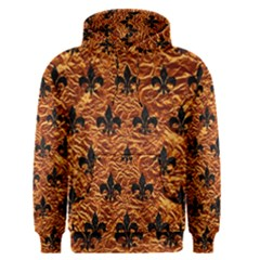 Royal1 Black Marble & Copper Foil Men s Pullover Hoodie