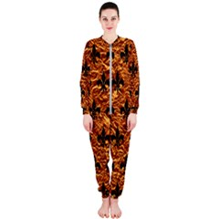 Royal1 Black Marble & Copper Foil Onepiece Jumpsuit (ladies)
