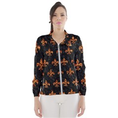 Royal1 Black Marble & Copper Foil (r) Wind Breaker (women)