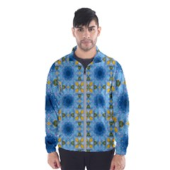 Blue Nice Daisy Flower Ang Yellow Squares Wind Breaker (men)
