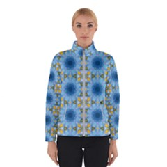 Blue Nice Daisy Flower Ang Yellow Squares Winterwear