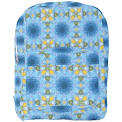Blue Nice Daisy Flower Ang Yellow Squares Full Print Backpack