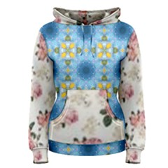 Pink And White Flowers  Women s Pullover Hoodie
