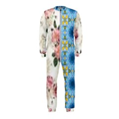 Pink And White Flowers  Onepiece Jumpsuit (kids)