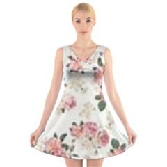Downloadv V Neck Sleeveless Skater Dress