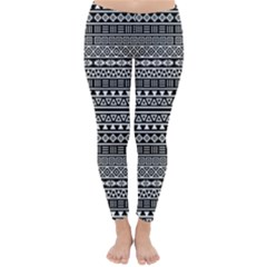 Aztec Influence Pattern Classic Winter Leggings