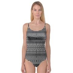 Aztec Influence Pattern Camisole Leotard