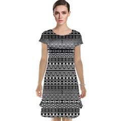 Aztec Influence Pattern Cap Sleeve Nightdress
