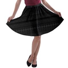 Aztec Influence Pattern A Line Skater Skirt