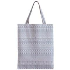 Aztec Influence Pattern Zipper Classic Tote Bag