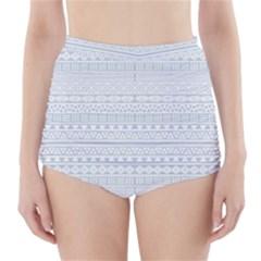 Aztec Influence Pattern High Waisted Bikini Bottoms