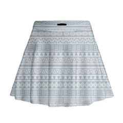 Aztec Influence Pattern Mini Flare Skirt