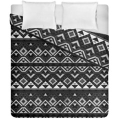 Aztec Influence Pattern Duvet Cover Double Side (california King Size)