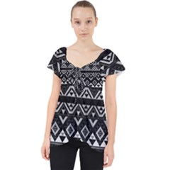 Aztec Influence Pattern Lace Front Dolly Top