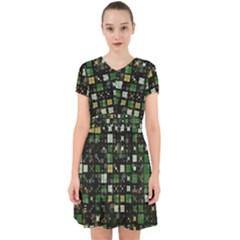 Small Geo Fun C Adorable In Chiffon Dress