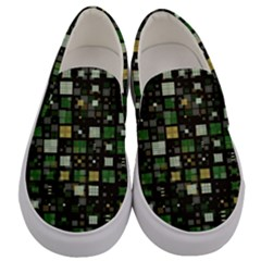 Small Geo Fun C Men s Canvas Slip Ons