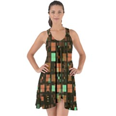 Small Geo Fun A Show Some Back Chiffon Dress