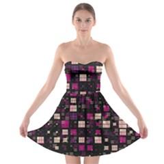 Small Geo Fun D Strapless Bra Top Dress
