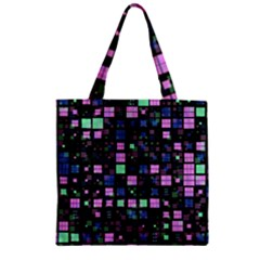 Small Geo Fun B Zipper Grocery Tote Bag