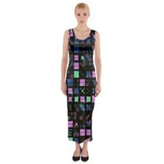 Small Geo Fun B Fitted Maxi Dress
