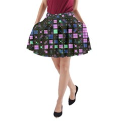 Small Geo Fun B A Line Pocket Skirt