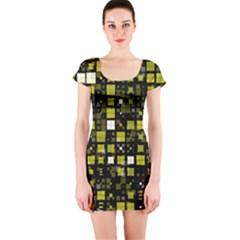 Small Geo Fun F Short Sleeve Bodycon Dress