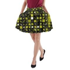 Small Geo Fun F A Line Pocket Skirt