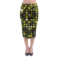 Small Geo Fun F Midi Pencil Skirt