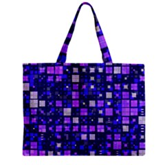 Small Geo Fun E Zipper Mini Tote Bag
