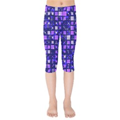 Small Geo Fun E Kids  Capri Leggings