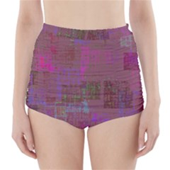 Abstract Art High Waisted Bikini Bottoms
