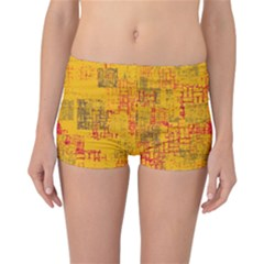 Abstract Art Reversible Boyleg Bikini Bottoms