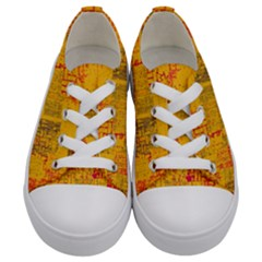 Abstract Art Kids  Low Top Canvas Sneakers